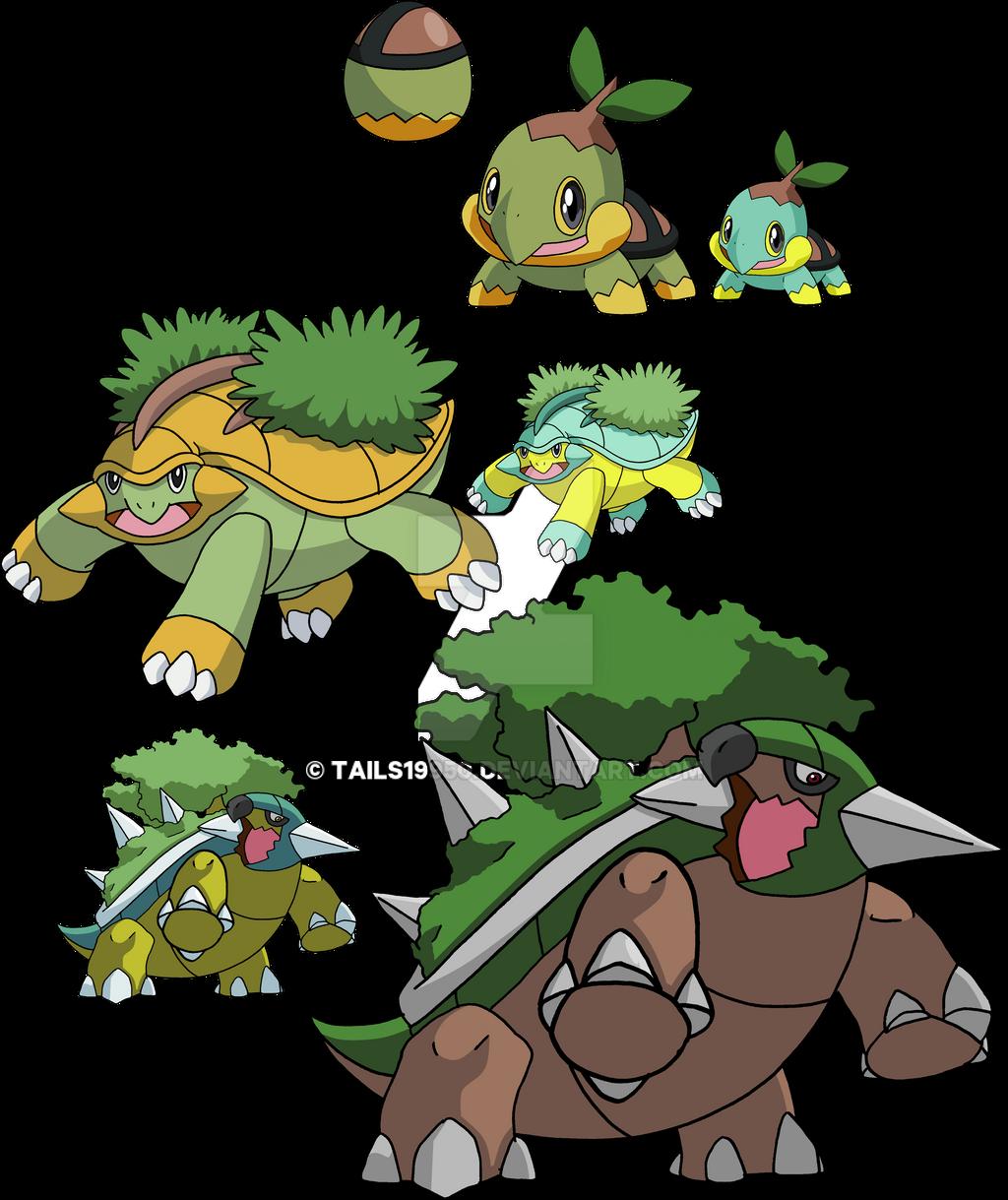 Turtwig-Grotle-Torterra favourites by MCsaurus on DeviantArt