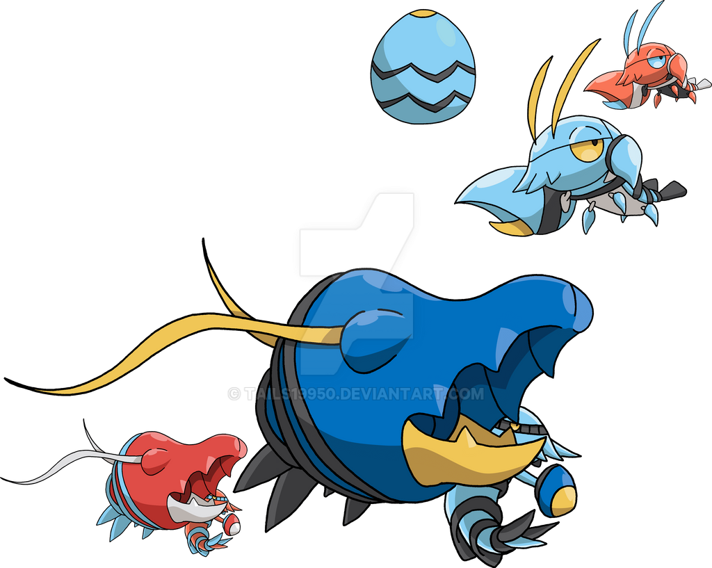 692 and 693 - Clauncher Evolutionary Family by Tails19950 ...