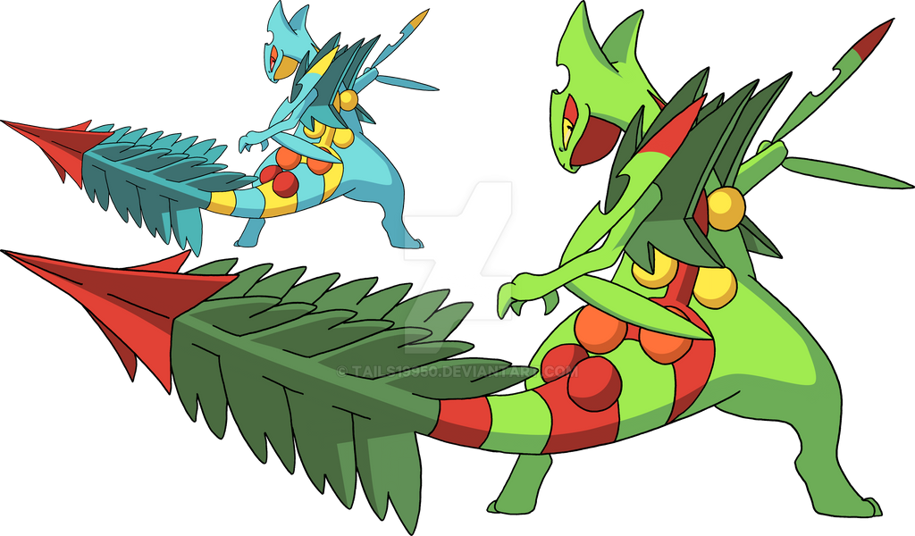 254 - Mega Sceptile - Art v.2 by Tails19950 on DeviantArt