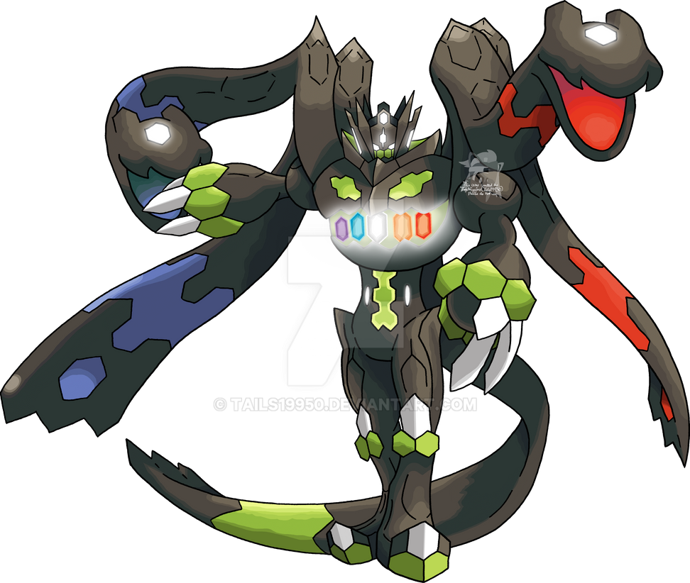 718 zygarde complete forme by tails19950 on deviantart
