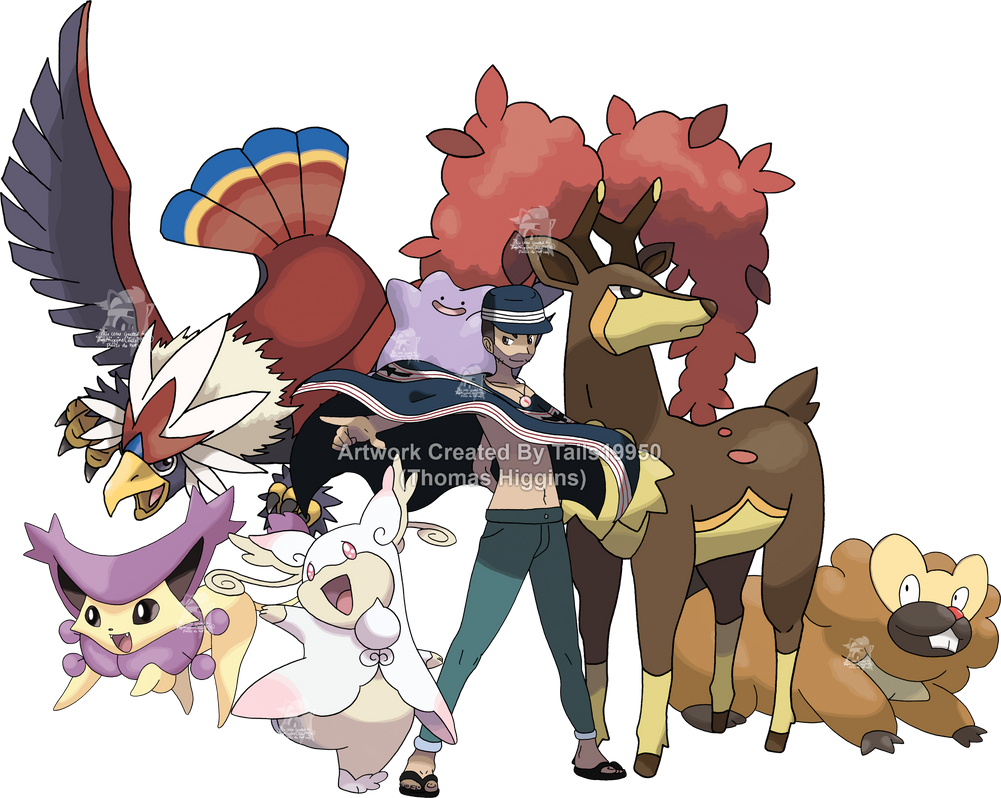 Commission - Cody's Pokemon Team - Art v.2 by Tails19950
