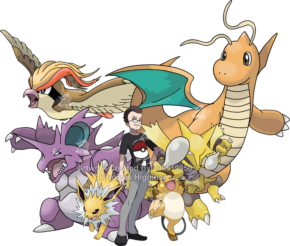 Commission - Bryce's Pokemon Team by Tails19950