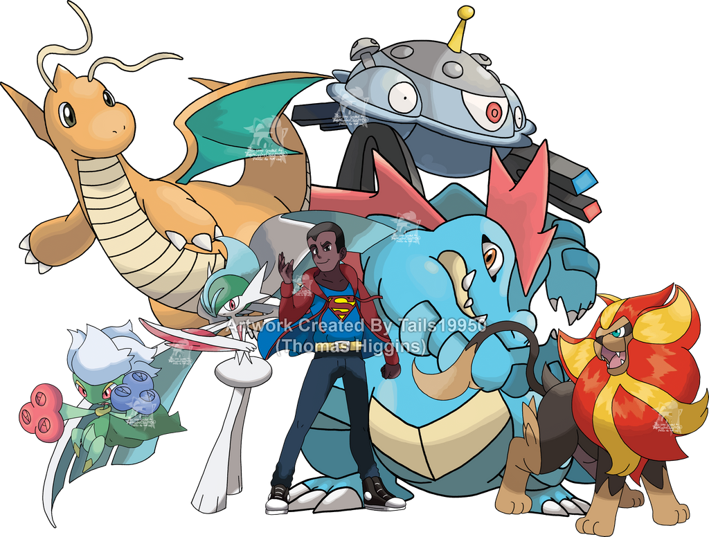 Commission - Christopher's Pokemon Team 3 by Tails19950