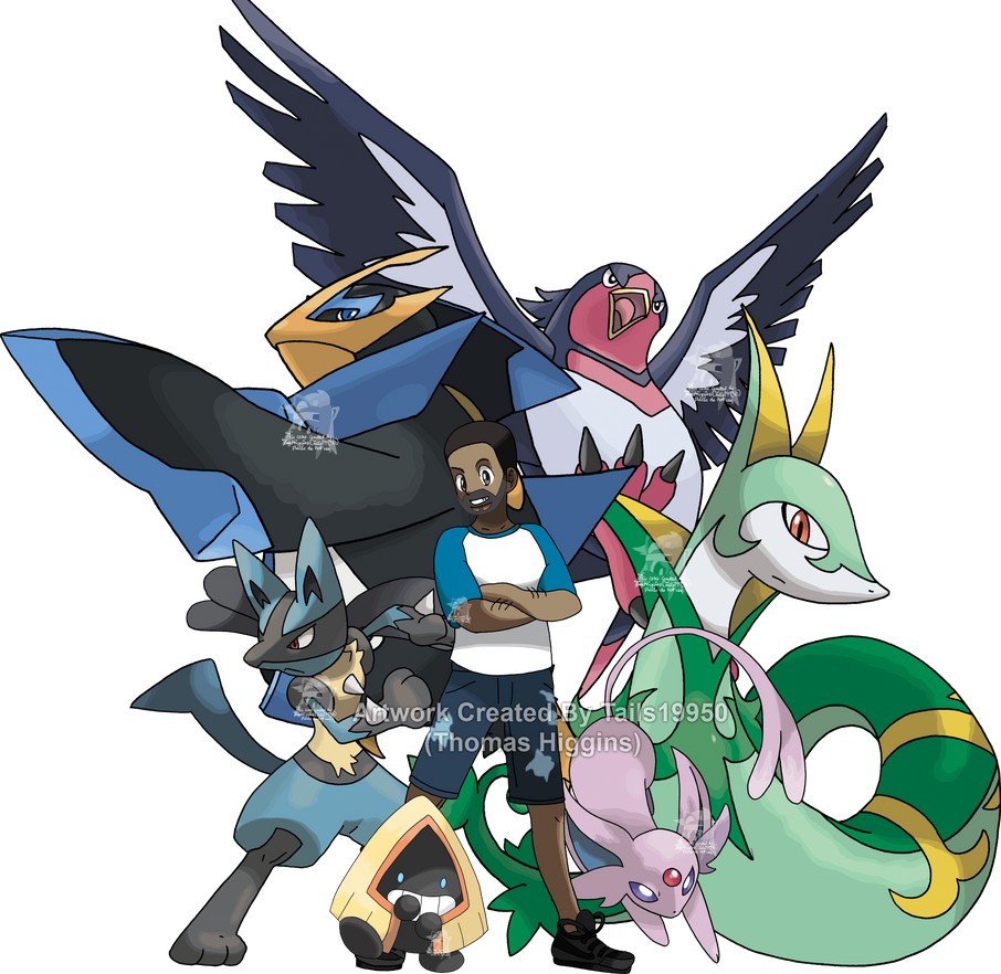 Commission - Gabriel's Pokemon Team by Tails19950