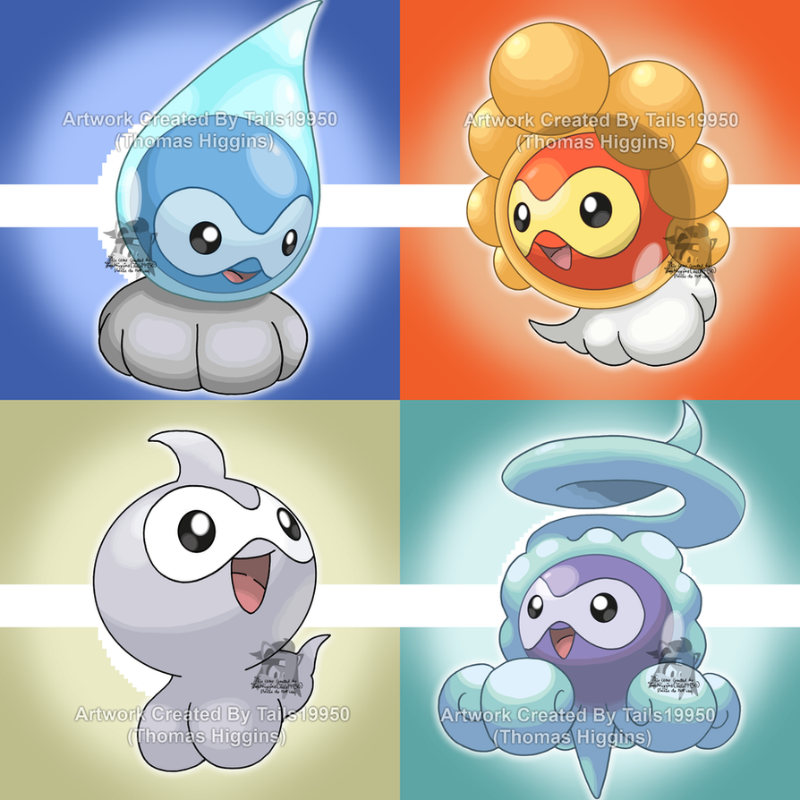 351 - Castform (All Forms) by Tails19950 on DeviantArt