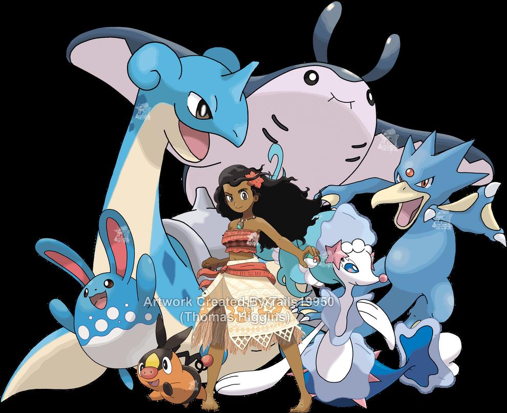 Moana - Pokemon Team by Tails19950