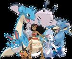 Moana - Pokemon Team
