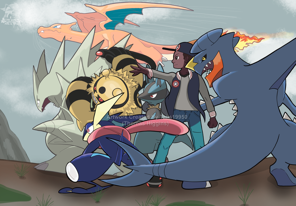 Commission - Aaron's Pokemon Team by Tails19950