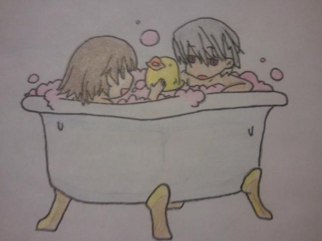 Junjou Romantica Bathtime by chokkocakes