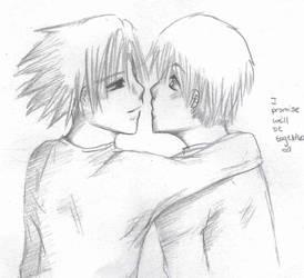 Promise-SasuNaru Sketch by RagingPulse