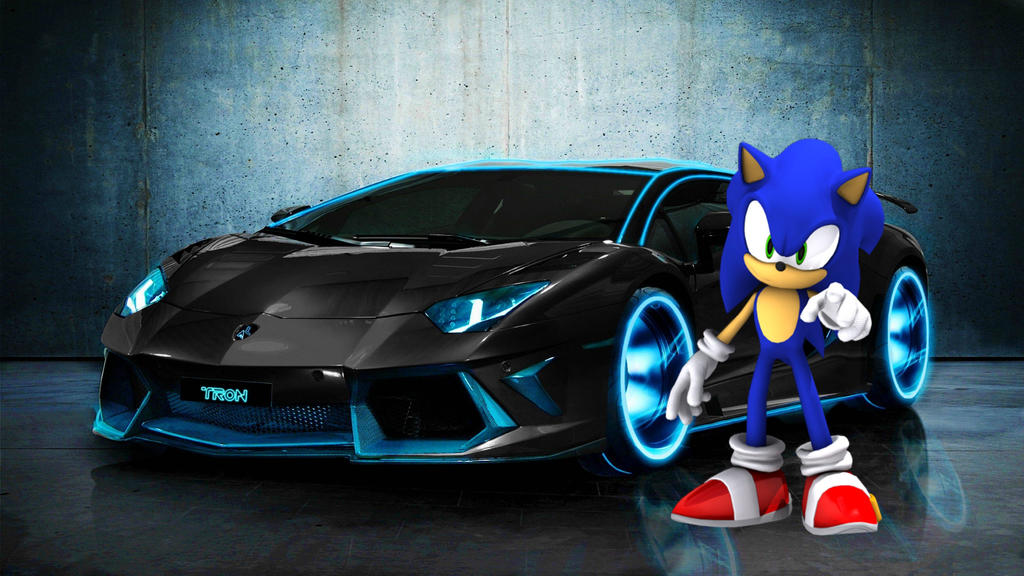 Sonic The Hedgehog and Car by SonicWerehogFury on DeviantArt