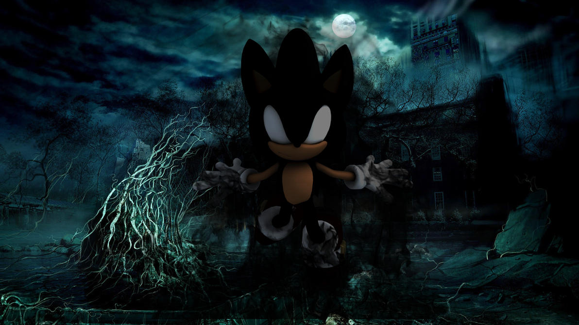 Dark Super Sonic Wallpaper 6 By Werehog Fury