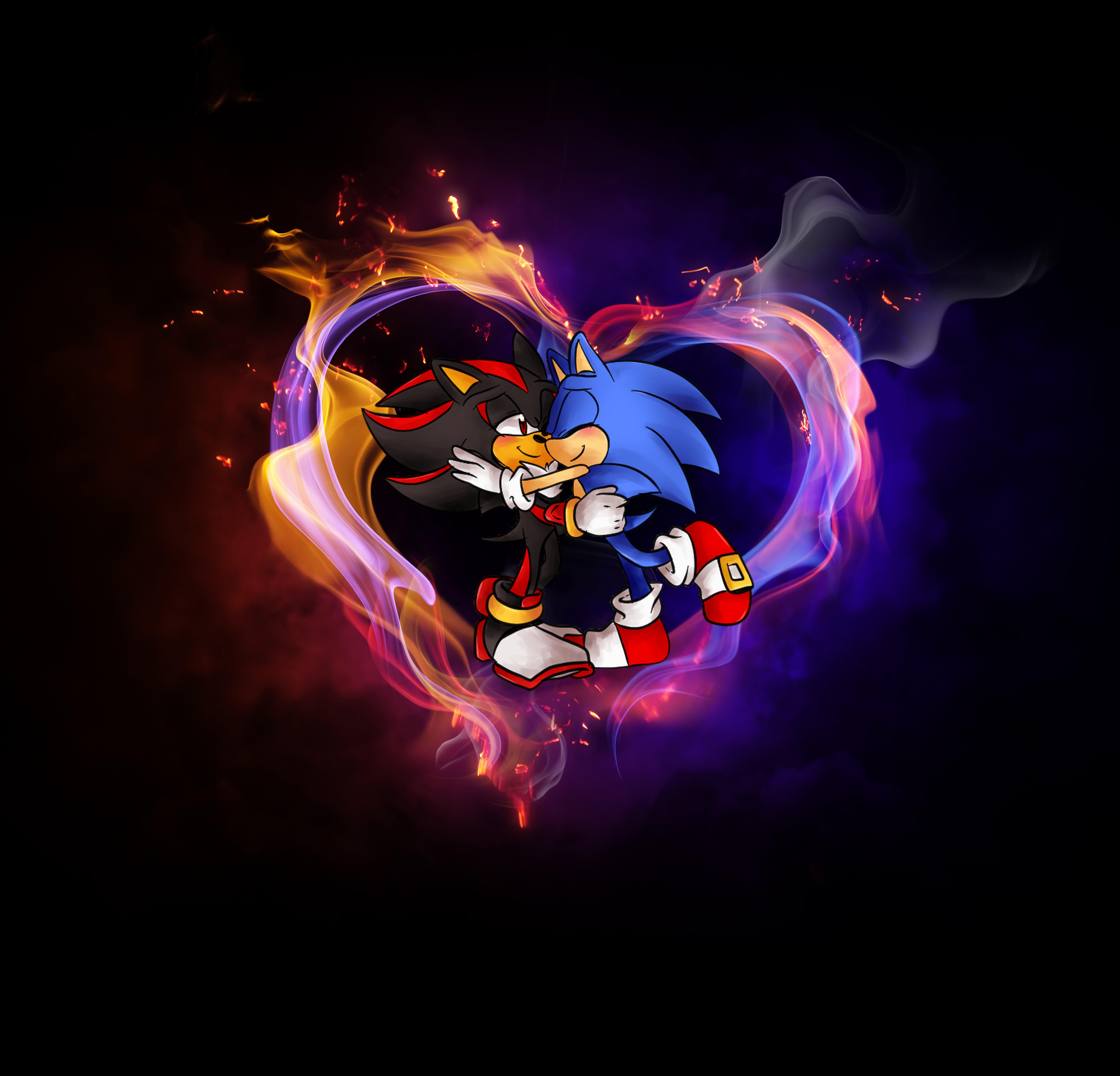 Sonadow Wallpaper By Sonic Werehog Fury