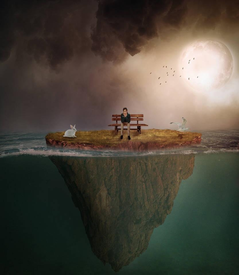 Alone boy on underwater by hassanjani998