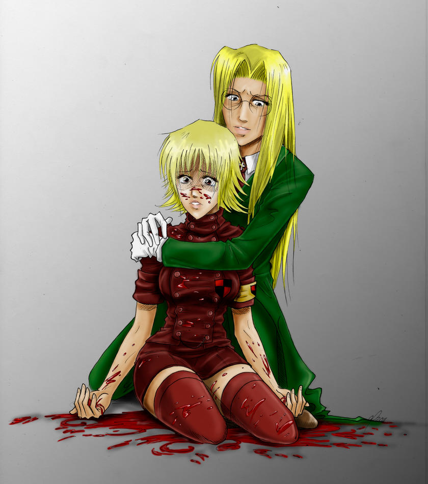 Seras and Integra by SunriseAshes