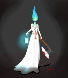 Dhun the lamp maiden by Aerdium