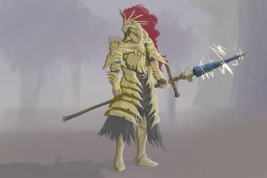 Dragon slayer Ornstein by Aerdium