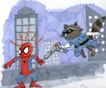 Spider-Man vs Rocket Raccoon