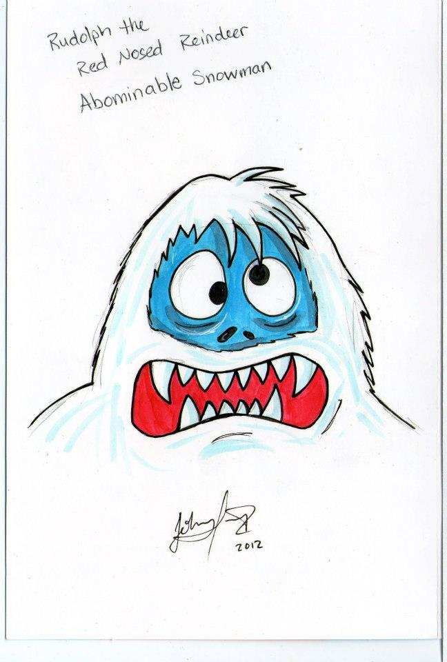 how to draw abominable snowman