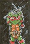 Raphael cardboard sketch card
