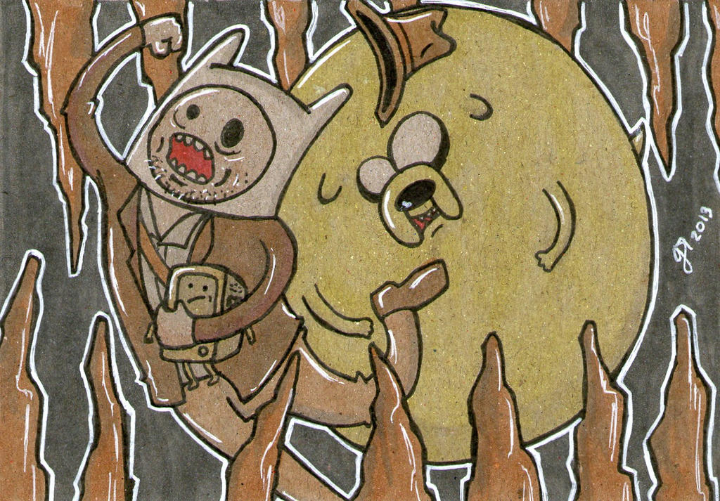 Adventure Time and the Temple of Doom by johnnyism