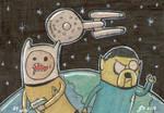 Adventure Time Star Trek by johnnyism
