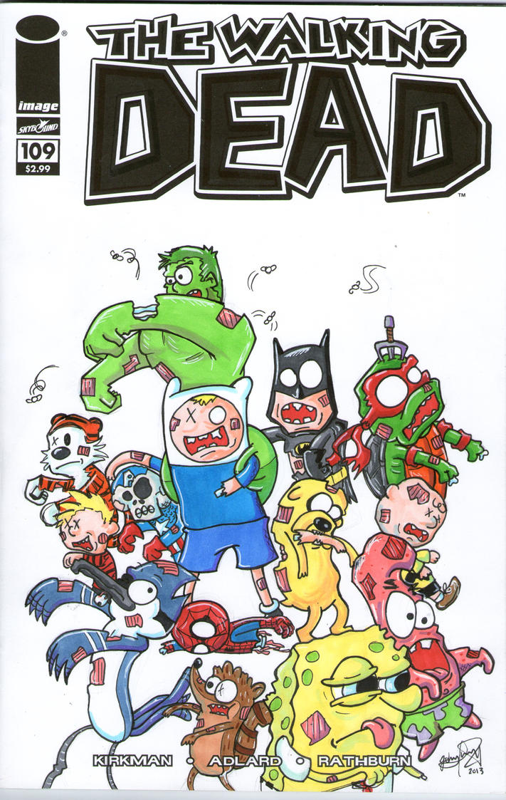 The Walking Dead Cartoons Version by johnnyism