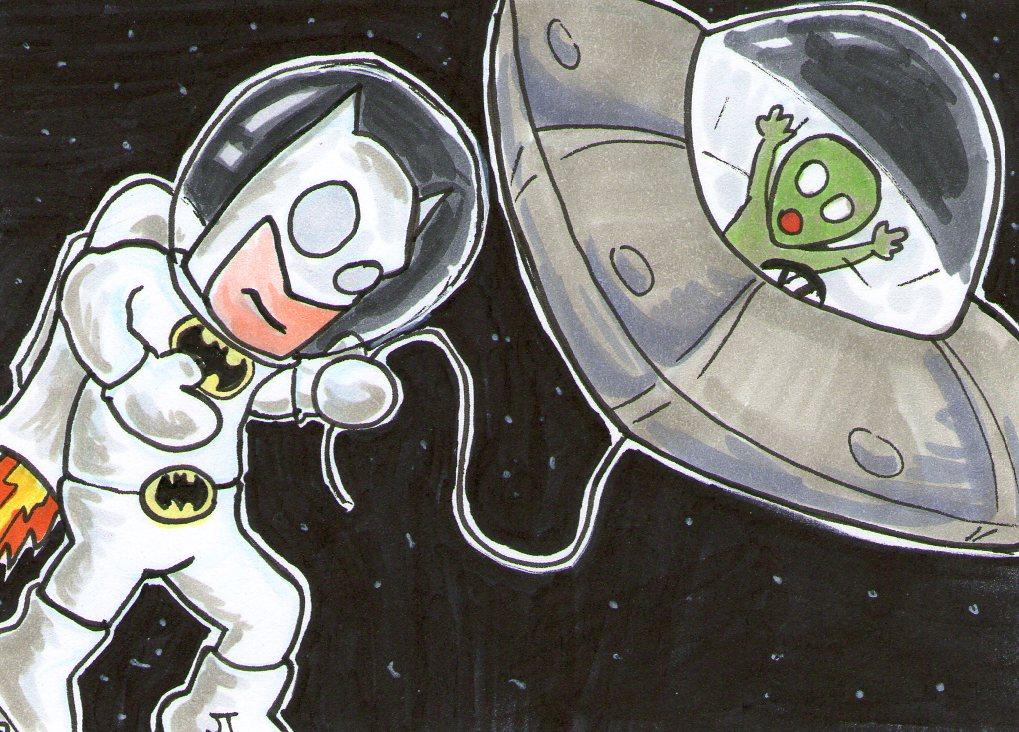 batman vs alien by - photo #41
