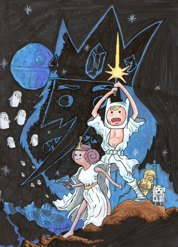 Star Wars Adventure Time by johnnyism
