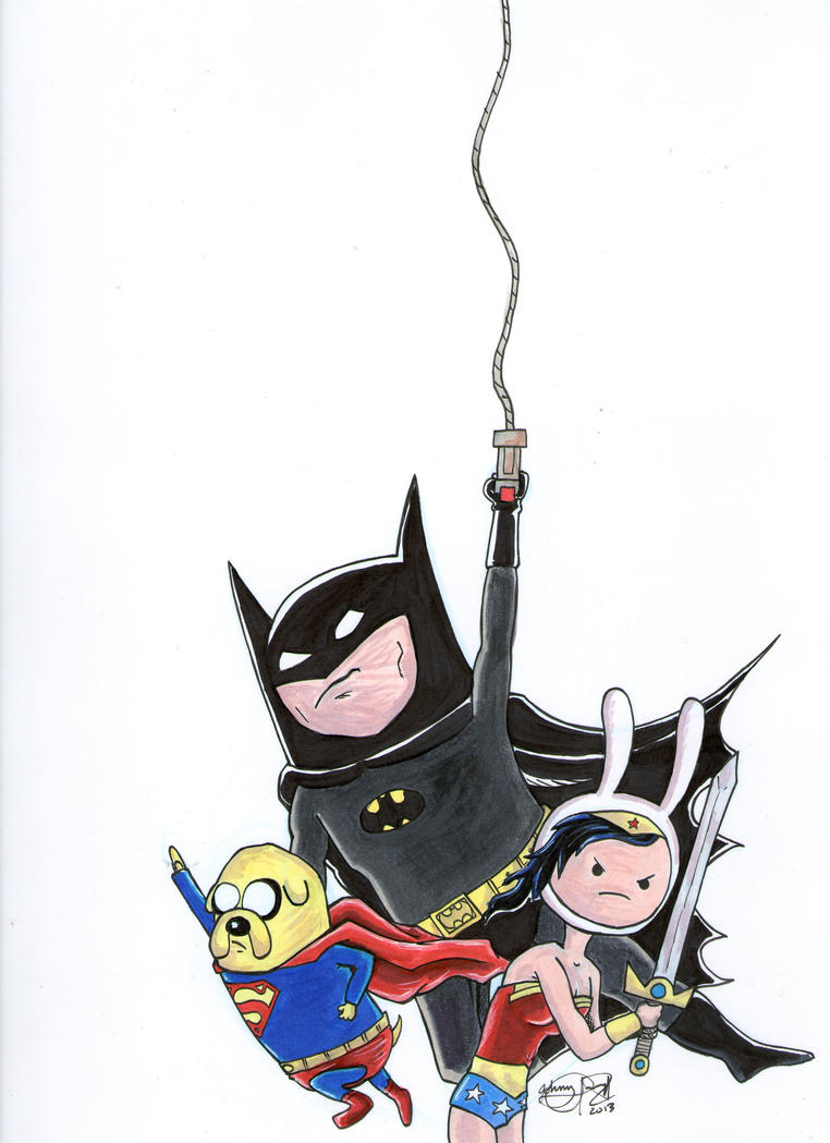 The Adventure Time DC Trinity by johnnyism