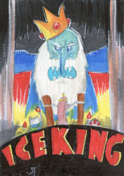 The Dreaded Ice King sketch card by johnnyism