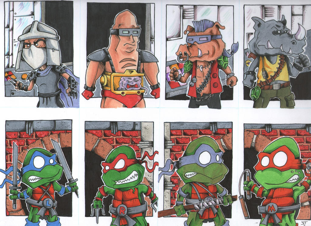 TMNT vs Shredder and Company by johnnyism