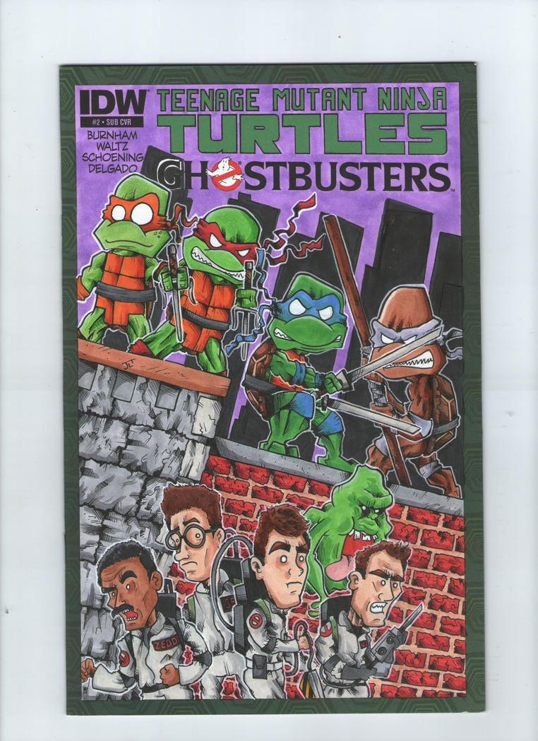 TMNT and the Ghostbusters Cover by johnnyism