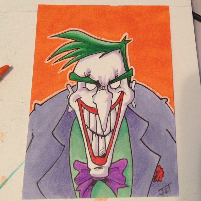 The Joker sketch card by johnnyism
