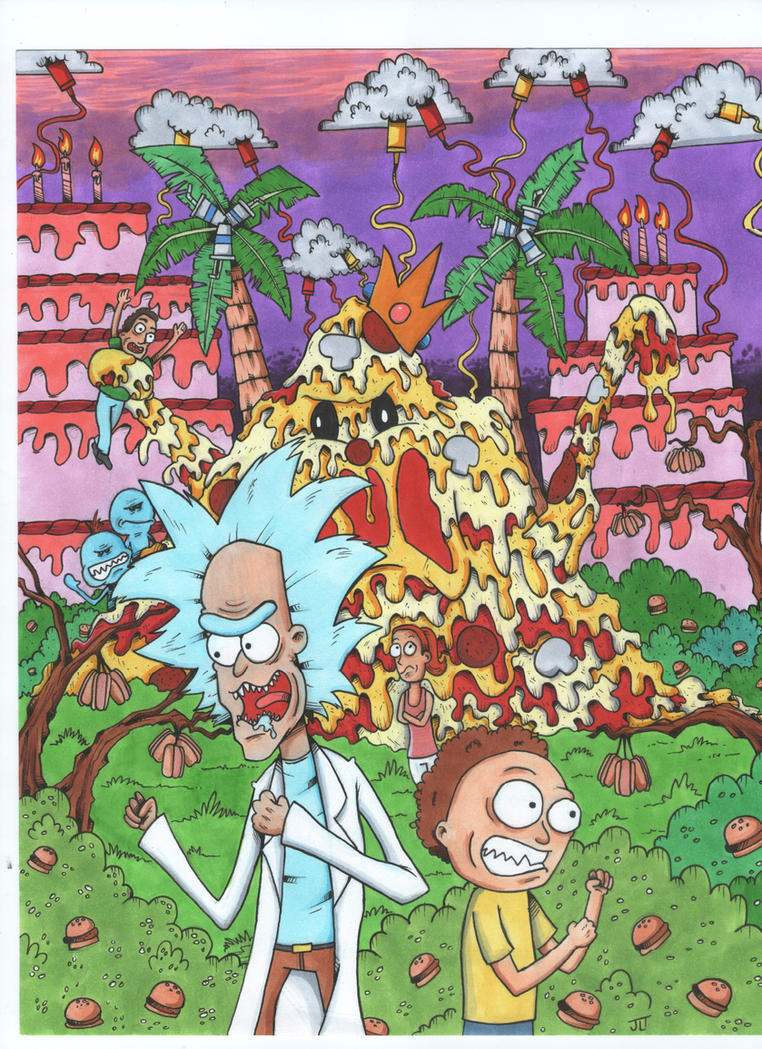 Rick and Morty vs The Junk Food Planet by johnnyism