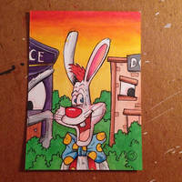 Roger Rabbit sketch card