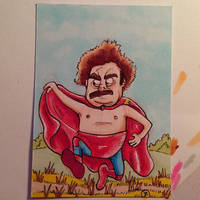 Nacho Libre sketch card