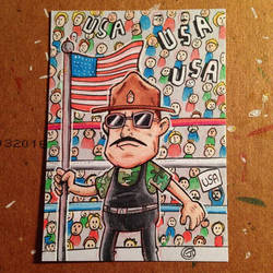Sargent Slaughter sketch card