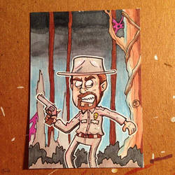 Hopper sketch card