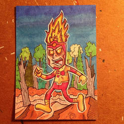 Firestorm sketch card