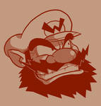 Bearded: Wario by Vanjamrgan