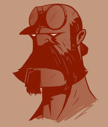 Bearded: Hellboy by Vanjamrgan