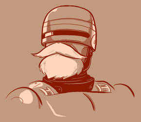 Bearded: Robocop by Vanjamrgan