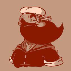 Bearded: Popeye by Vanjamrgan