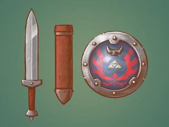 Zelda Redesign: Sword and Shield by Vanjamrgan