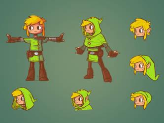 Zelda Redesign: Link by Vanjamrgan