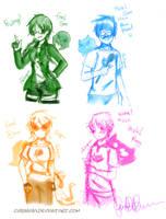 Alpha Kids Genderbends by ChibiGaia