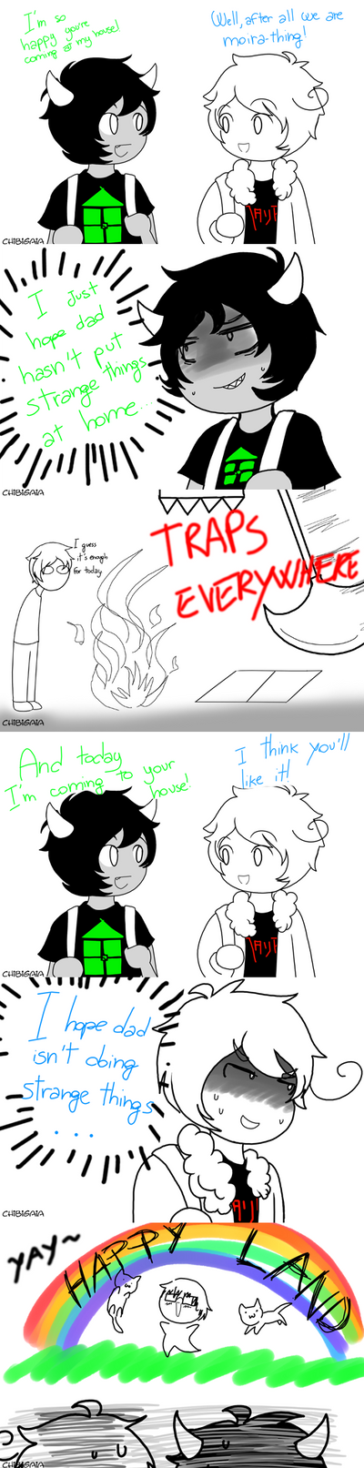 Fandomstuck: Visiting each other by ChibiGaia