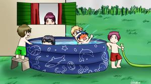 [Free!] Kids and swimming pool