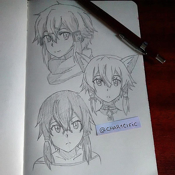 Sinon Shino Sketch By Char1cific On DeviantArt